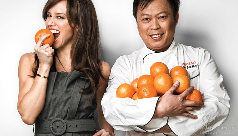 Orange Promo – NBC Anchor Sara Gore & Celebrity Vietnamese Chef Michael Bao