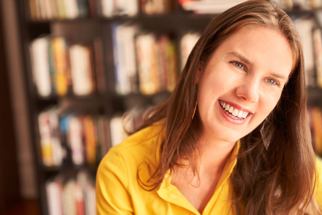 American novelist and essayist Leslie Jamison by Michel Leroy