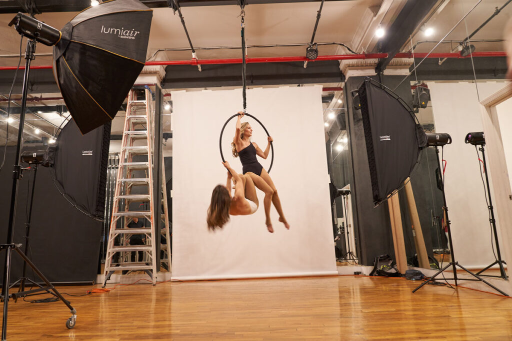 Behind the scenes with photographer Michel Leroy for Body & Pole and Lastolite by Manfrotto