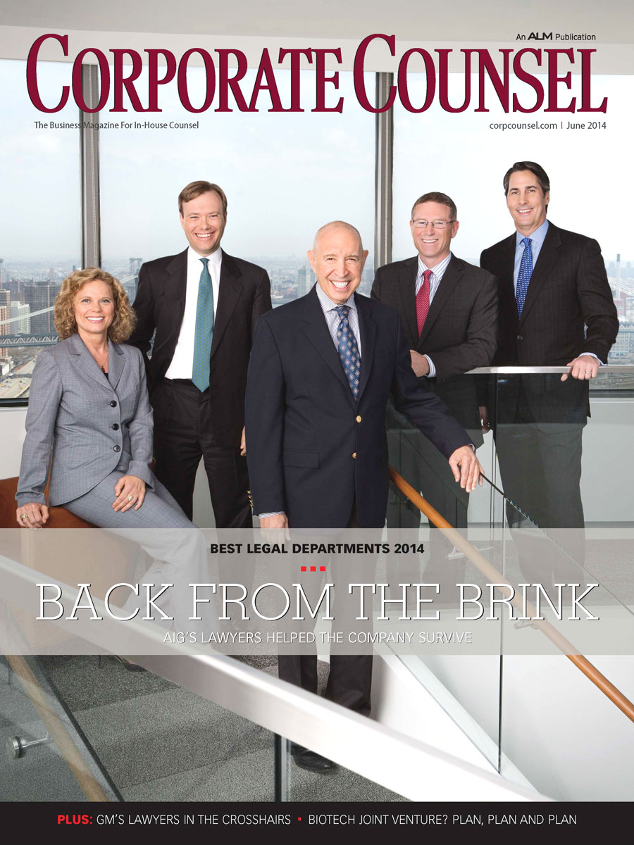 Corporate Counsel – Best Legal Departments 2014