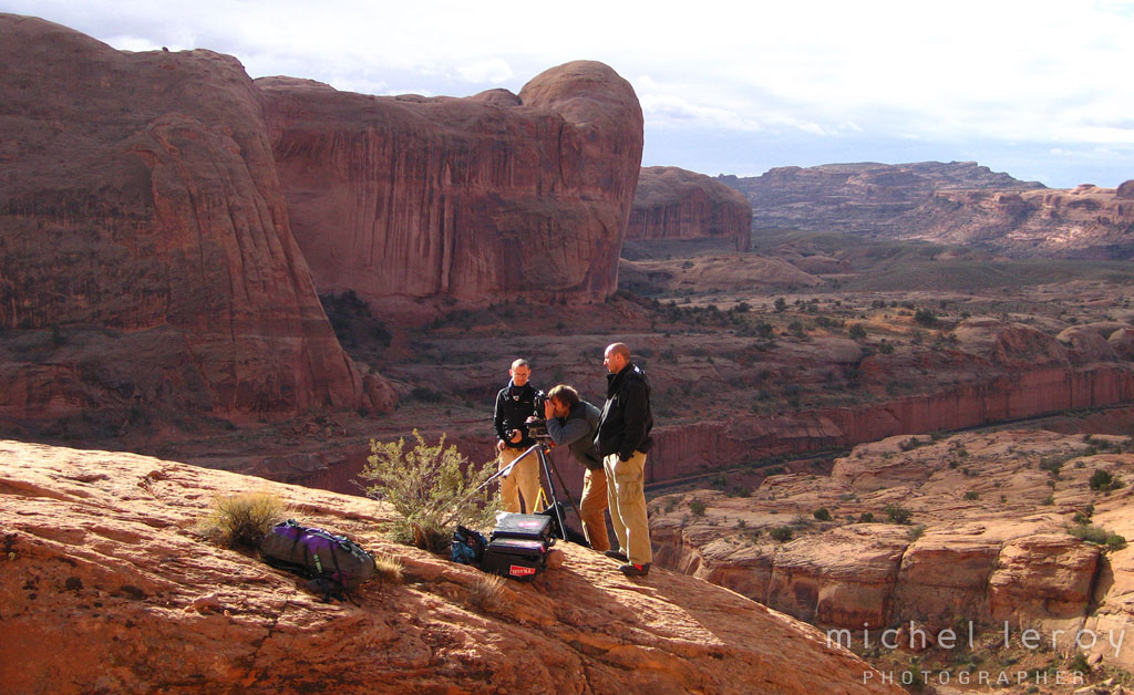 Michel Leroy on location in Moab, UT