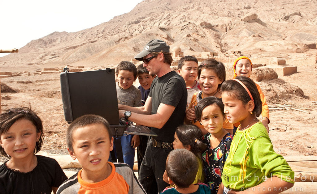 On location in Western CHINA