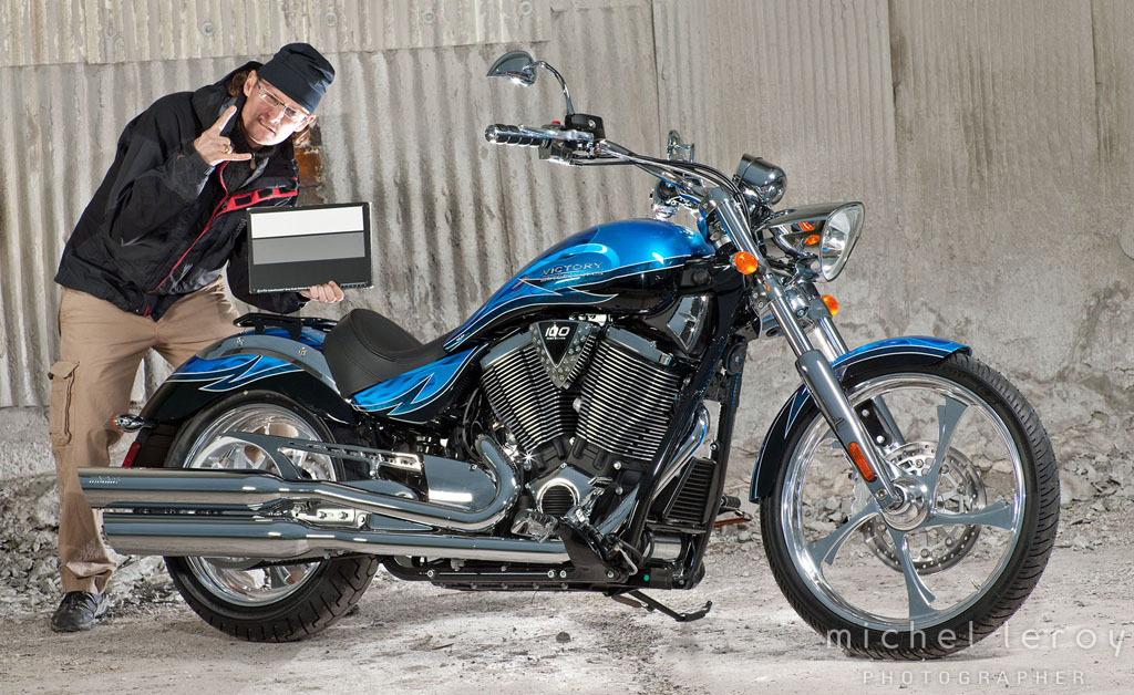 On location in Duluth, MN for Victory Motorcycles