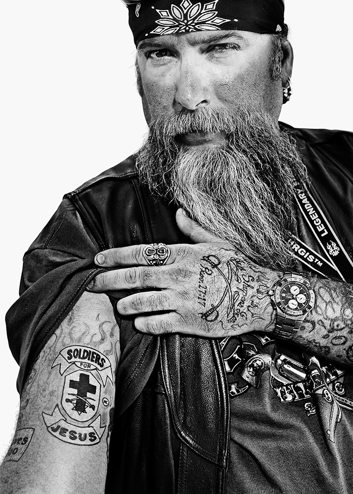 Rally Biker Portraits by Michel Leroy