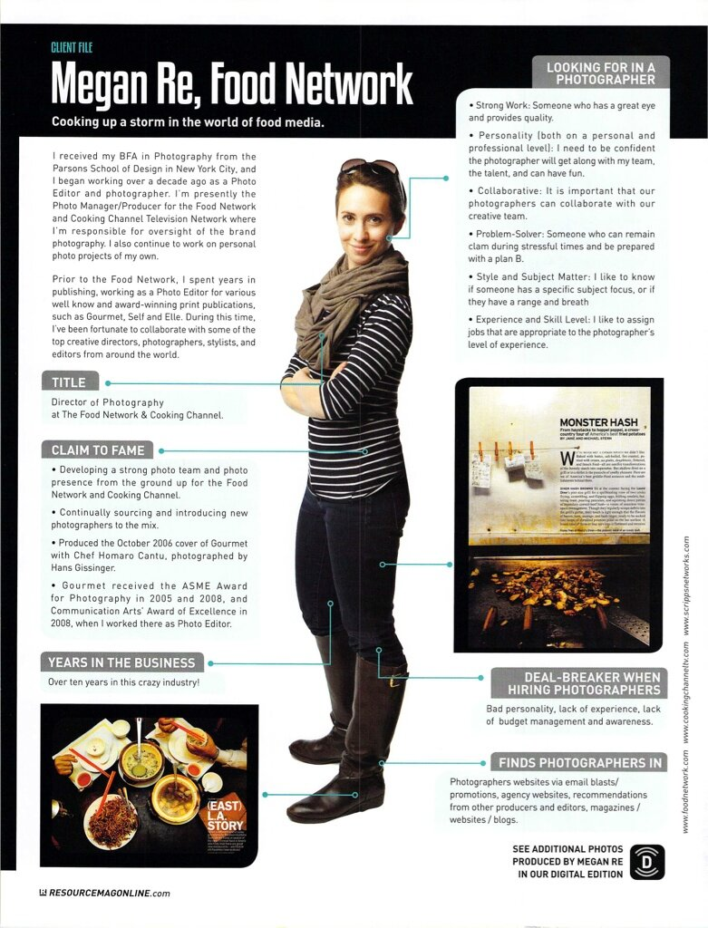 Megan Re of Food Network by Michel Leroy