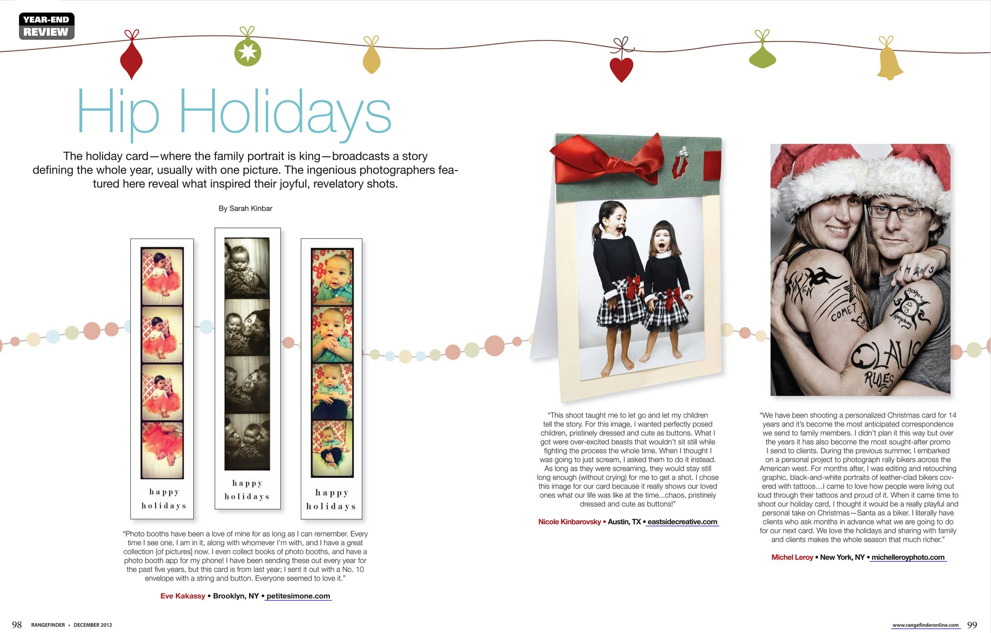Michel Leroy holiday card in Rangefinder Magazine
